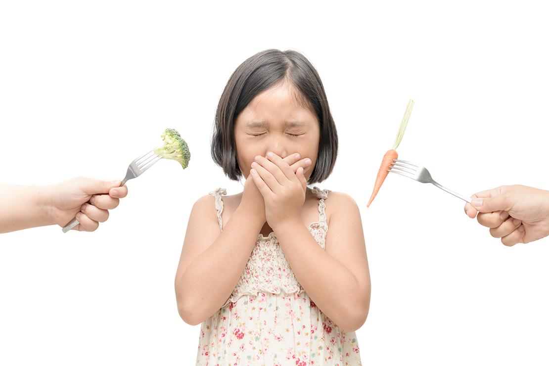 Criança não quer comer