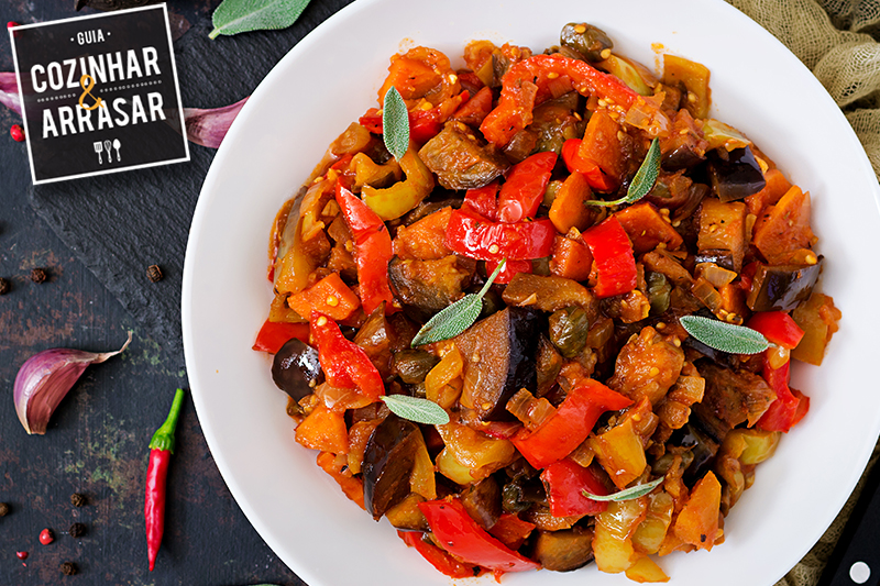 Cozinhar & Arrasar -  Caponata de Legumes