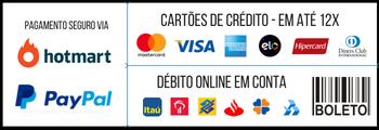 Pagamento Seguro via Hotmart e Paypal