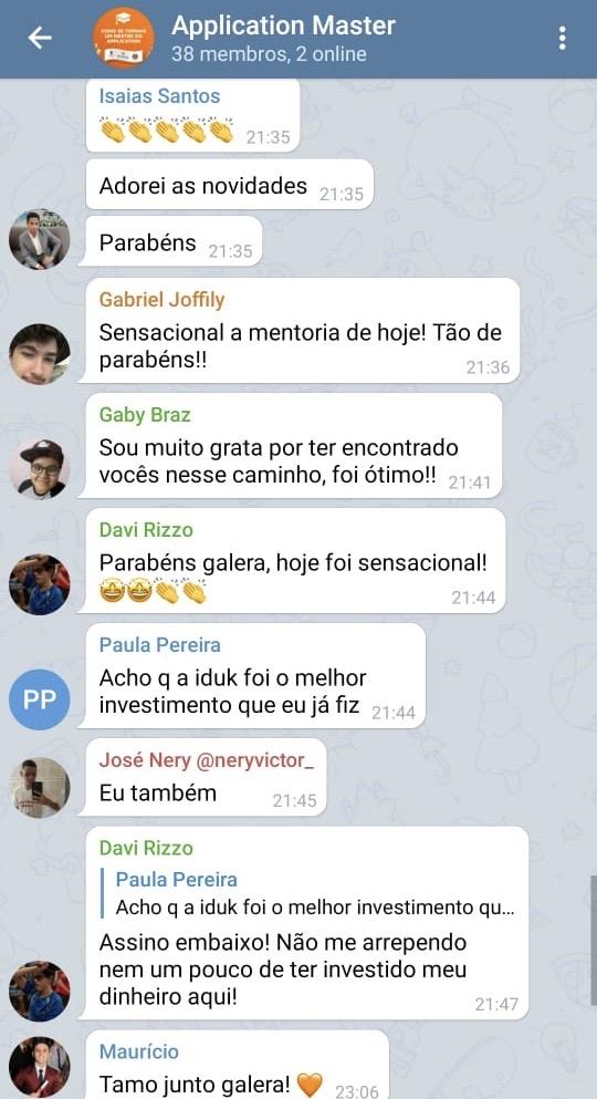DEPOIMENTO ALUNOS AM - TELEGRAM