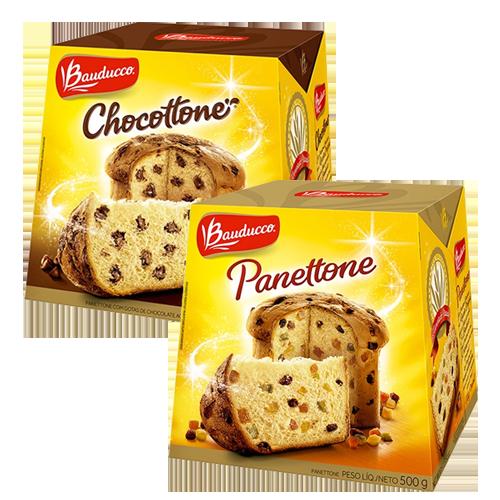 Panettone e Chocotone  Bauducco