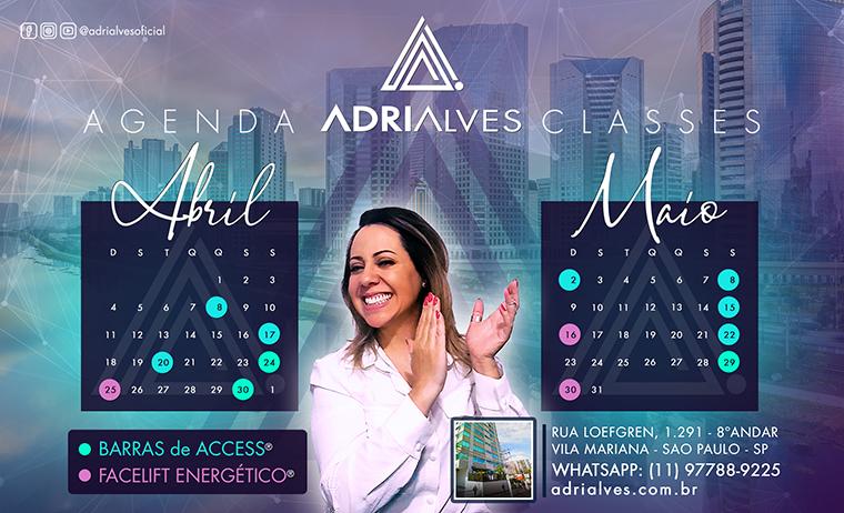 Curso Barras de Access Consciousness com Adri Alves - Agenda