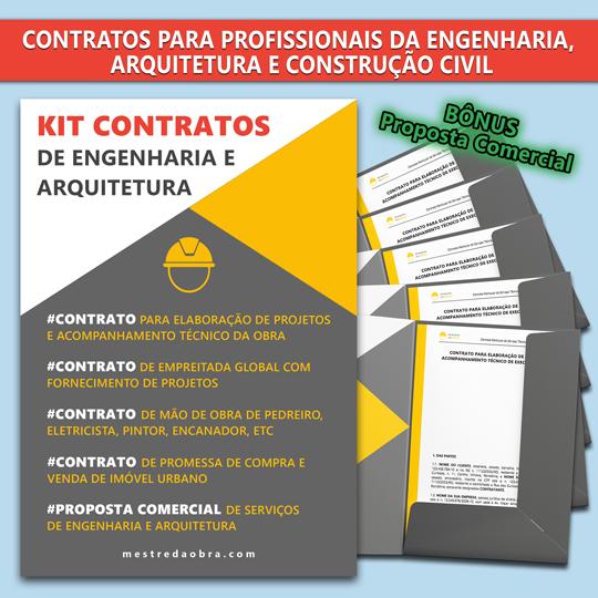 KIT Contratos Engenharia e Arquitetura