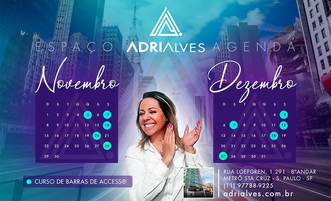 Curso de Barras de Access com Adri Alves - Agenda