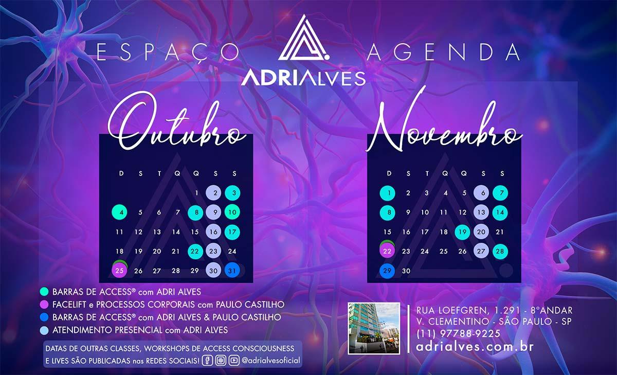 Agenda Barras de Access Adri Alves