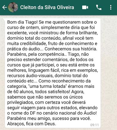 Depoimento Cleiton Oliveira