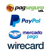 use: pagseguro, mercado pago, paypal, wirecard e outros facilitadores em sua loja virtual IND E-commerce