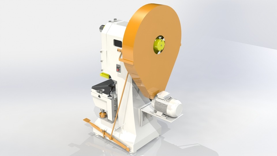 Representação da proteção do volante de prensa