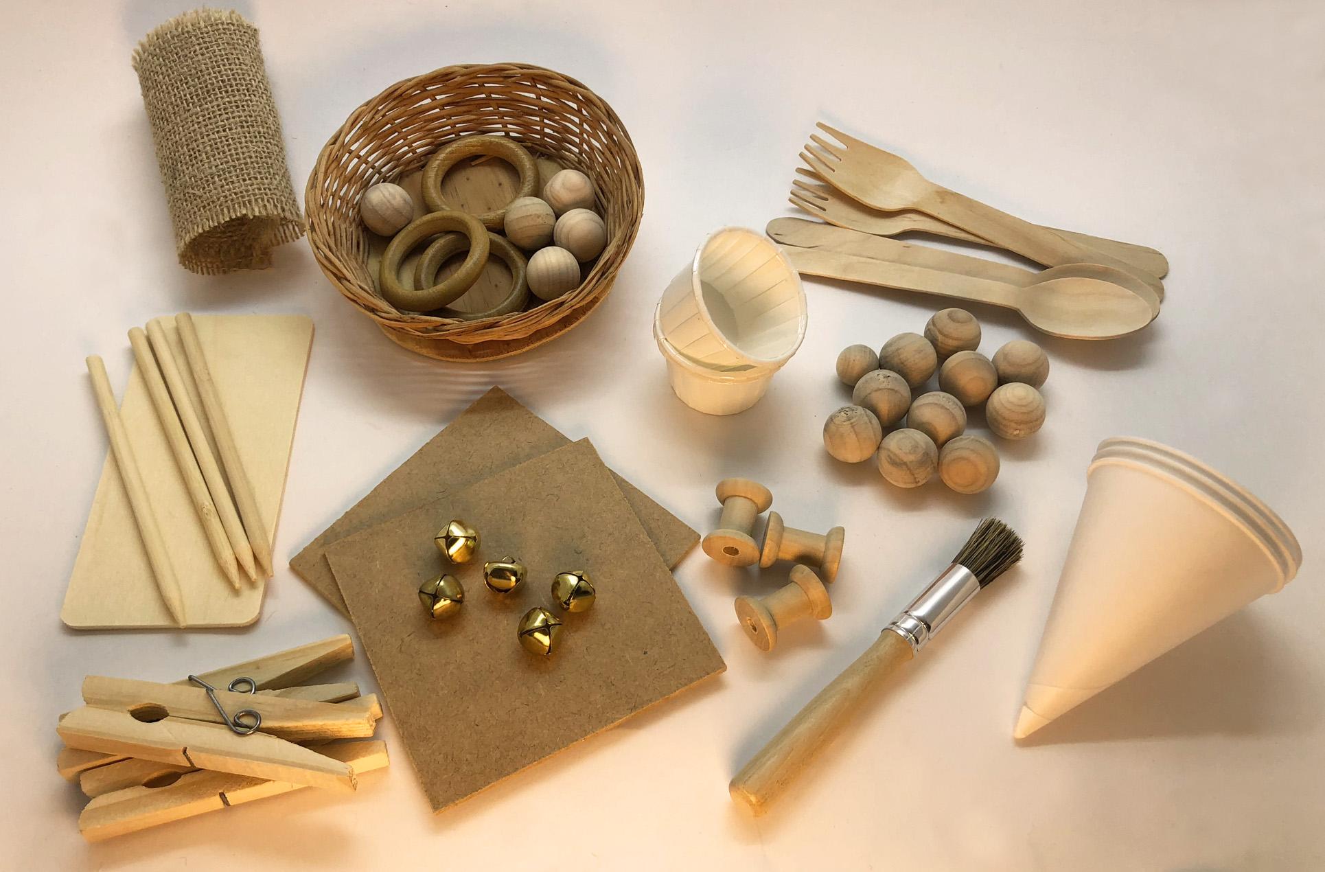 materiais caixinhas