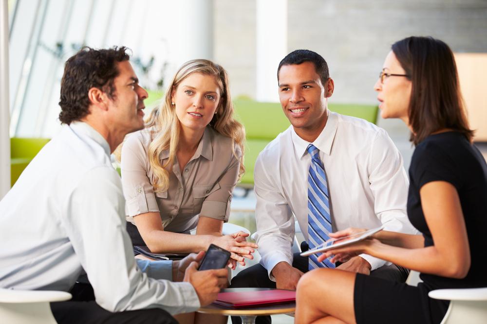 Grupo de empreendedores de sucesso