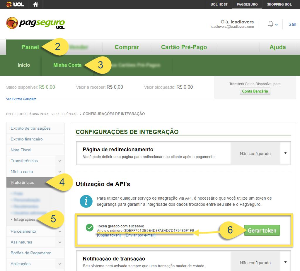 Integração PagSeguro