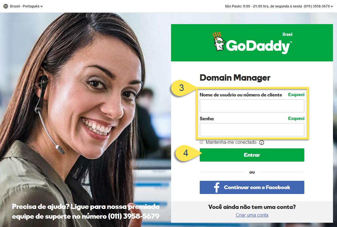 Configurar Domínio ou Subdomínio na GoDaddy
