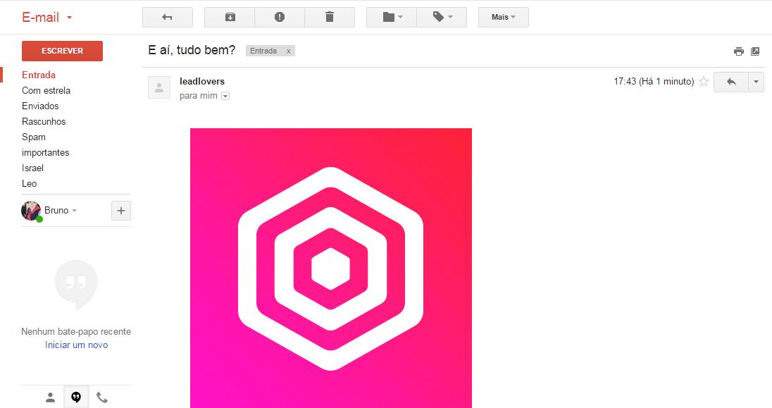 inserir imagens no corpo do e-mail