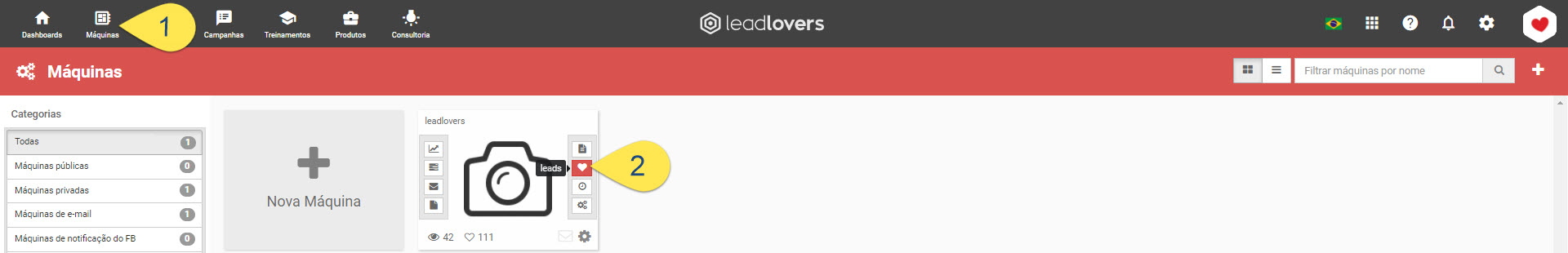 filtra lead por status