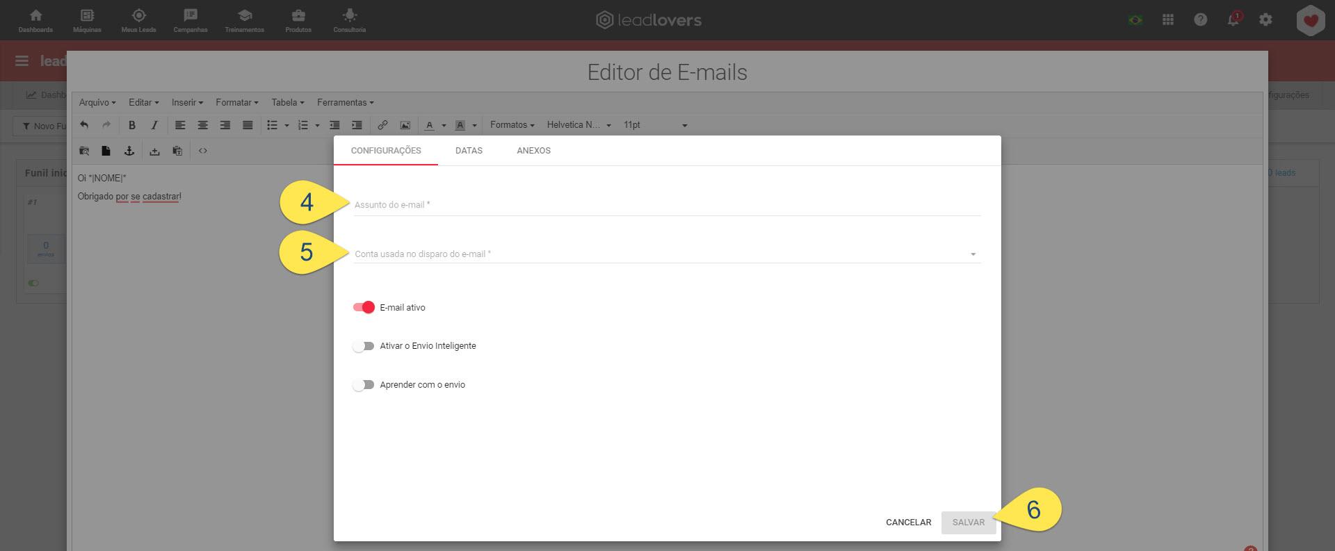 Inserindo tags pelo editor simples