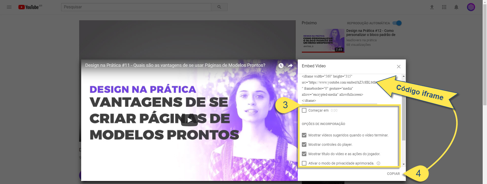Incorporar vídeo youtube