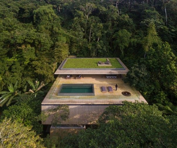 Telhado Verde Casa na Mata - Brasil
