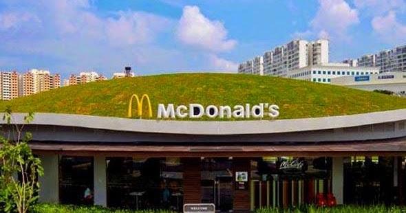 Telhado Verde Mc Donald`s - Singapura