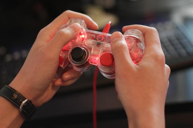 Imagem interação videogame joystick