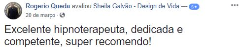 Depoimentos sheila galvao clinica hipnoterapia sao caetano do  sul