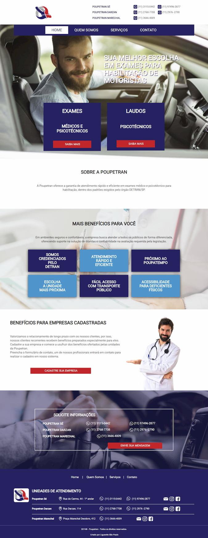 POUPETRAN - EXAMES MÉDICOS E PSICOTÉCNICOS
