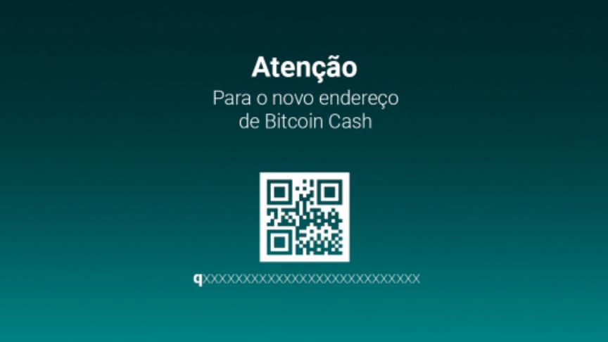 Bitcoin Cash cria novo endereço de carteira virtual - img1