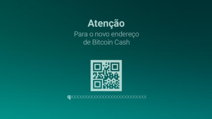 Bitcoin Cash cria novo endereço de carteira virtual