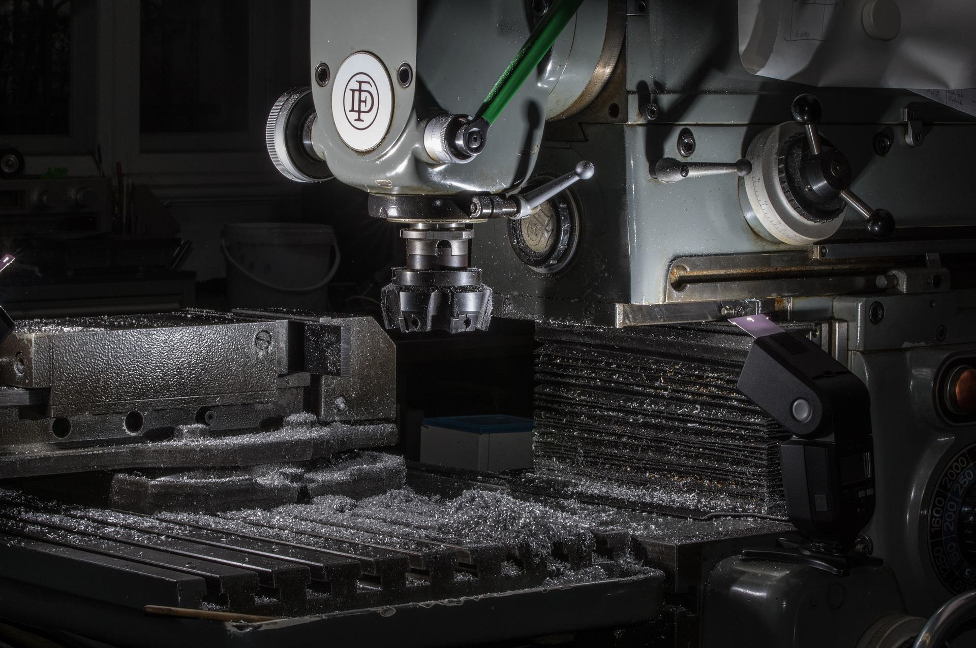 Máquina de trituração, usinagem para metais